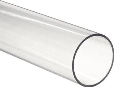 Clear Perspex Acrylic Pipe Tube All Large Size Lengths 50Mm 60Mm 70Mm 75Mm 80Mm