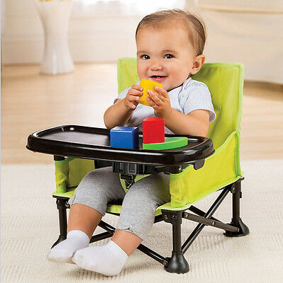 Summer Infant Pop N' Sit Portable Booster Seat Baby Feeding Detachable Tray NEW
