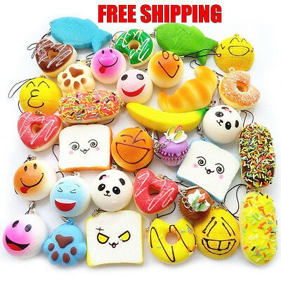 ALL KINDS Set of 10 Squishy ALL AROUND Kawaii Squishies Kids Soft Toy GIft New!!