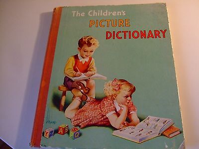 Vintage The Children's Picture Dictionary By A.A.Nash Rare FREE POSTAGE