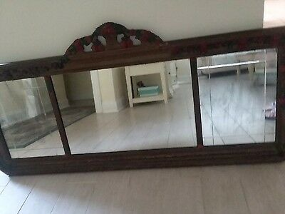 Antique mirror Hand carved solid wood