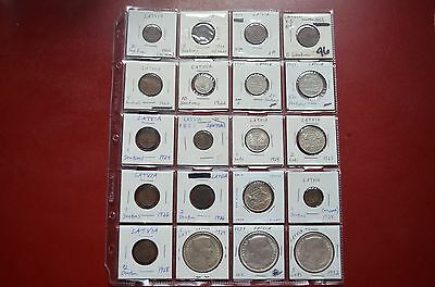 Latvia Coins (Lot of 28) - 1922-1939