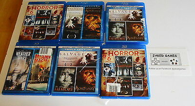 Used Lot of 6 Multi Blu-Ray Movies 11 Movies Total Horror Free Shipping!