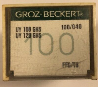 100 Groz-Beckert Industrial Sewing Machine Needles 108Ghs Size 100/040