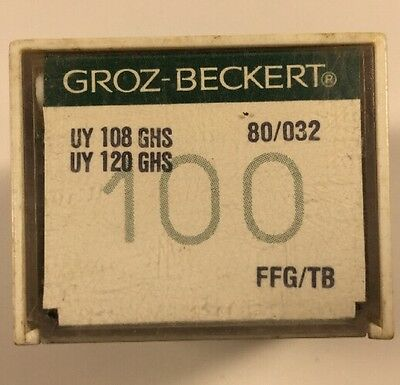 100 Groz-Beckert Industrial Sewing Machine Needles 108Ghs Size 80/032