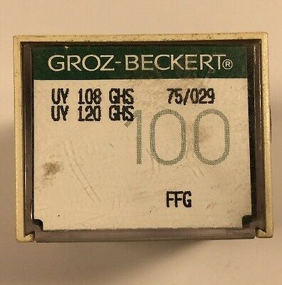 100 Groz-Beckert Industrial Sewing Machine Needles 108Ghs Size 75/029