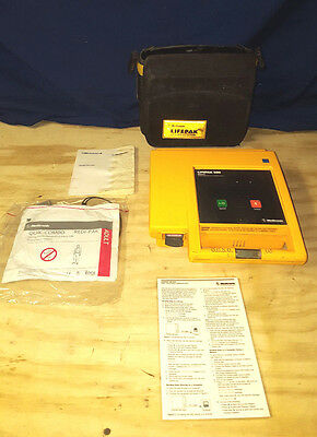 Physio-Control Lifepak 500 with Case, & Physio Control ECG Electrode
