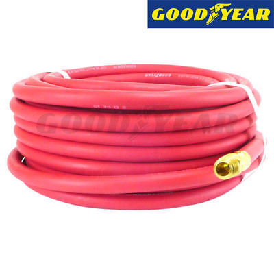 "1/4"" inch x 100' ft. Goodyear Rubber Air Compressor Hose w/ Brass Fittings"