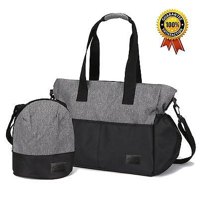 Klokol IPX4 Waterproof Baby Diaper Bag Tote for Mom with 10 Large Pockets...