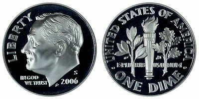 2006-S PROOF 90% SILVER Roosevelt Dime , Gem Cameo , FREE SHIPPING!