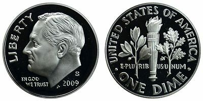 2009-S PROOF 90% SILVER Roosevelt Dime , Gem Cameo , FREE SHIPPING!