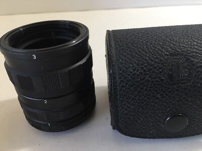 Vintage Asahi Pentax Screw Mount Lens Macro Extension Tube Set 1 2 3,