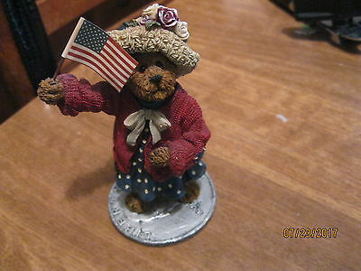 boyd's bear resin eleanore bearsvelt god bless america
