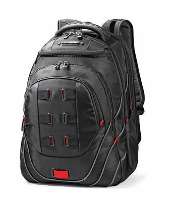 "Samsonite Tectonic PFT 17"" Backpack - Black/Red Laptop Backpack NEW #51531"