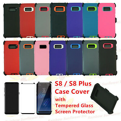 sports shoes eb9ae b2964 FOR SAMSUNG GALAXY S8 / S8 Plus Defender Rugged Case Cover (Clip Fits  Otterbox)