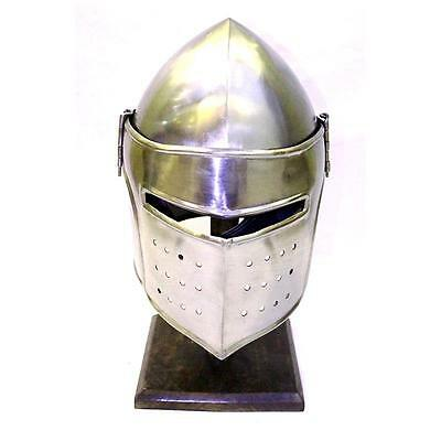 Ancient Medieval Renaissance Replica Knights Barbute Helmet With Stand Armor