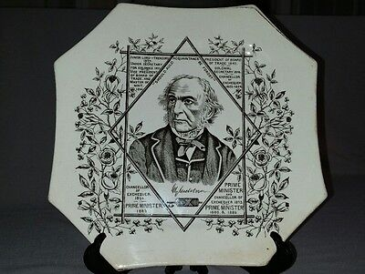 Victorian Commemorative Plate - William Ewart Gladstone
