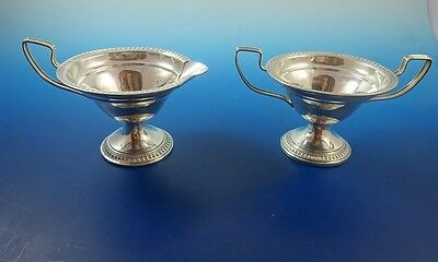 Sterling Silver Sugar and Creamer by Webster