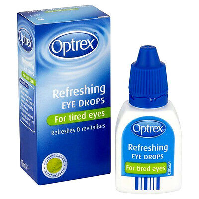 OPTREX Refreshing EYE DROPS 10ML For Tired Eyes Relieves and Revitalises Fresh
