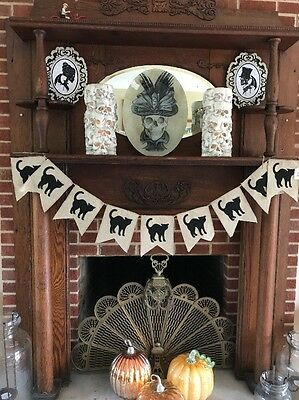 Halloween Black Cat Pennant Garland