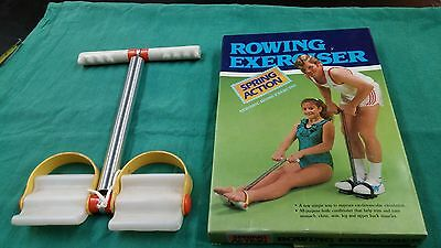 Vintage Spring Action Rower Exerciser Row / Pull Up