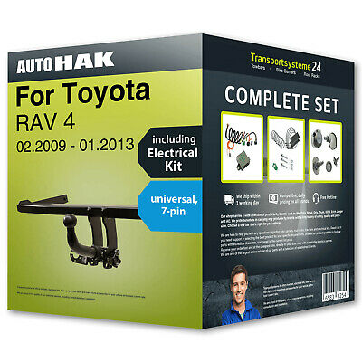 Towbar detachable TOYOTA RAV 4 2009-2013 + 7pin universal e.kit NEW incl. manual