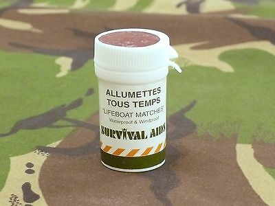 1990s Survival Aids Ltd Waterproof & Windproof Lifeboat Matches Made in England