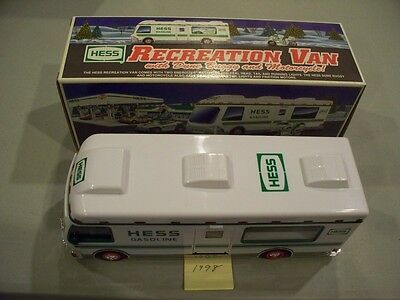 Hess Recreation Van With Dune Buggy & Motorcycle 1998 New In Box Free Shipping