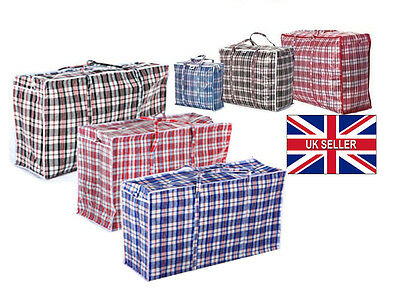 UK New Reusable Shopping Bag Storage Bags Laundry Zipped Strong Handles
