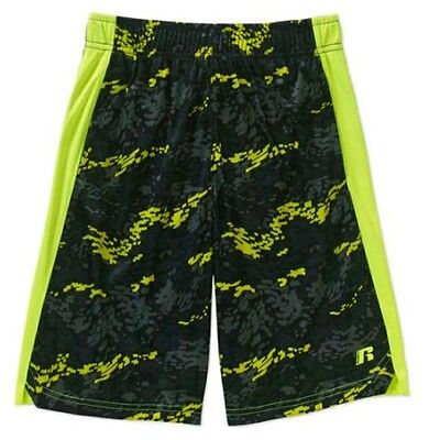Russell Boy's Active Shorts, Acid Yellow NWT