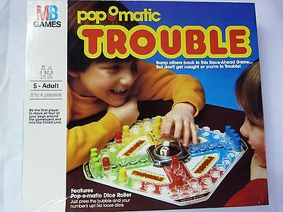 Vintage Milton Bradley Trouble Game Pop-O-Matic 1986