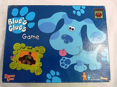 """Blue's Clues"" Board Game 1998 University Games Nickelodeon - Complete Set"