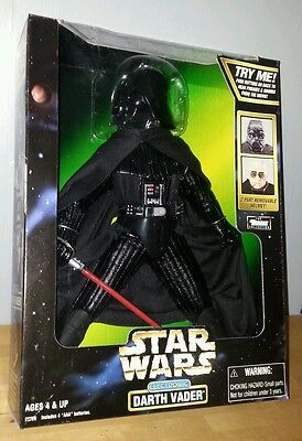 """Star Wars Action Collection Electronic DARTH VADER 12"""" Removable Helmet Figure"""