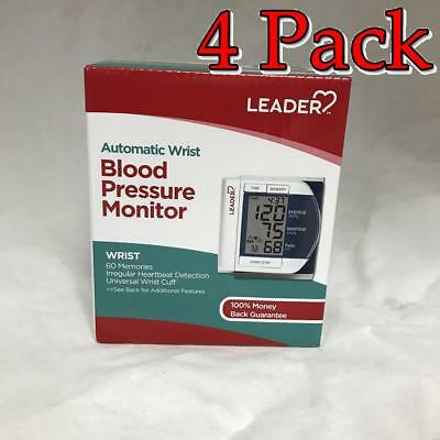 Leader Deluxe Automatic Wrist Blood Pressure Monitor, 4 Pack 096295129298F2953