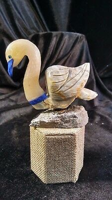 Stone Carved Swan from Peru