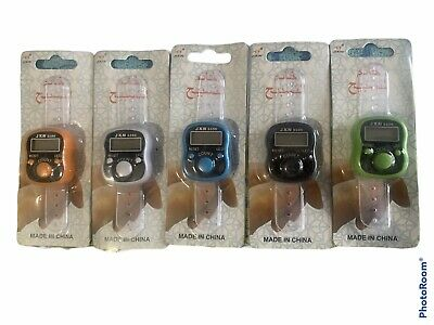 PACK OF 12 LED LIGHT DIGITAL FINGER RING TALLY COUNTER OR TASBEEH COUNTER SP Off