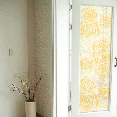 Yellow Rose Frost Frosting Frosted Window Film 24h Privacy Glass 1m/ m