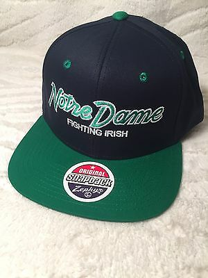 ZEPHYR NCAA NOTRE Dame Fighting Irish 🍀 Snap Back Hat -  22.99 ... 374591b3e265