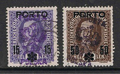Poland 1919 Postage Due Stamps Of Austria Surcharged