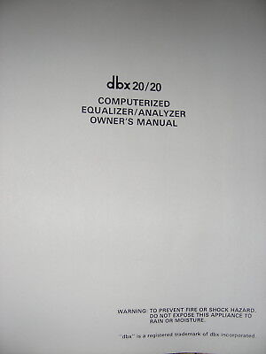 dbx 3BX SERIES II EXPANDER OWNERS MANUAL 20 Pages