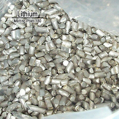 10 Grams High Purity 99.9% Pure Lithium Li Metal Element Sealed Argon