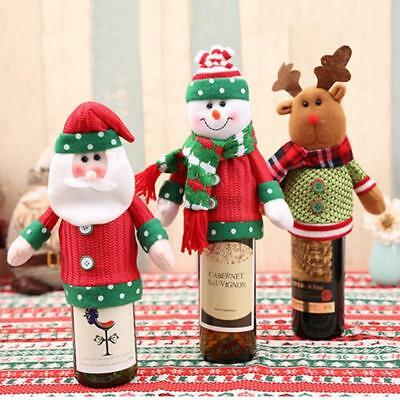 Christmas/Xmas Party Wine Bottle Cover Bag Knit Sweater Hat Gift Bag Wine Set AU