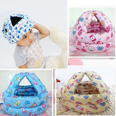 Infant Baby Toddler Safety Helmet Kids Head Protection Walking Crawling Hat New