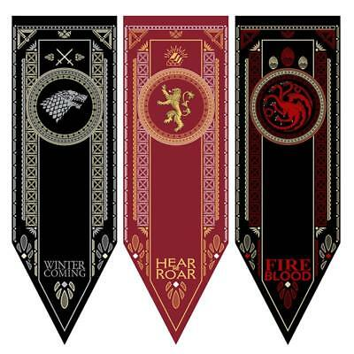 Poster Print Game of Thrones House Stark Tournament Flag Hanging Home Party.