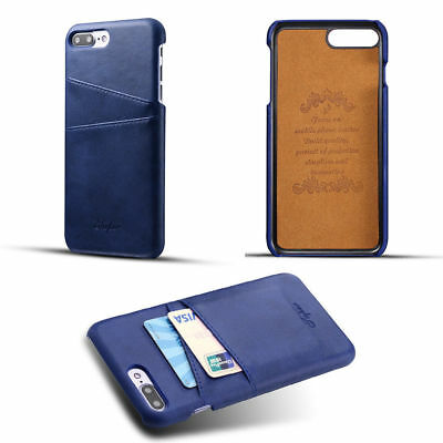 High Quality PU Leather Wallet Rear Card Case Cover Back For Apple iPhone 7 Plus
