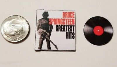 "Dollhouse Miniature Record Album 1"" 1/12 Bruce Springsteen Greatest Hits"