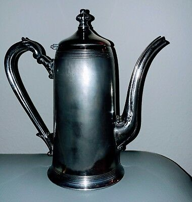 Antique Vintage Victorian Silverplate lidded coffee pot marked PS Co Sheffield.