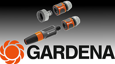 "Gardena Power Grip 1/2"" 13mm Garden Hose Fitting Set German Made by Husqvarna"