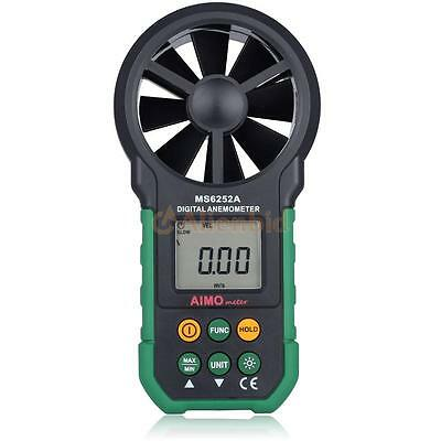 AIMOMETER MS6252A LCD Digital Wind Speed Air Volume Velocity Anemometer Meter