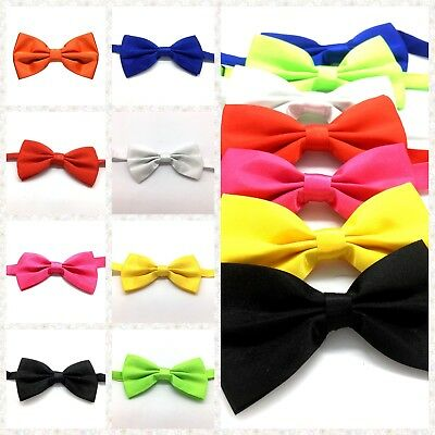 Kid's Man Bowtie Adult Clip On Bow Tie Pre-tied Party Wedding Formal Adjustable